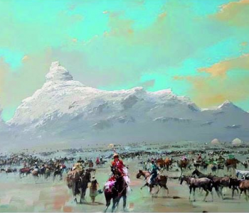 "Rashid Kulbatatyrov's exhibition ""From the Beginning to the New"""