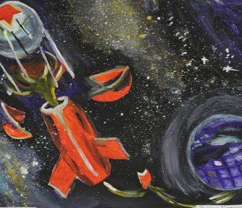 Выставка детского рисунка, посвященная 60-летию освоения космоса открылась в Астане